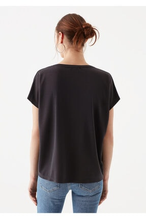 Mavi Lux Touch Siyah Modal Tişört 4