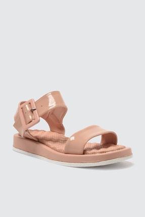 TRENDYOLMİLLA Somon Kalın Tabanlı Tokalı Rugan Kadın Sandalet TAKSS21SD0033 2