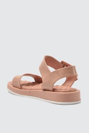 TRENDYOLMİLLA Somon Kalın Tabanlı Tokalı Rugan Kadın Sandalet TAKSS21SD0033 3