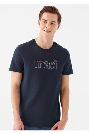 Mavi Logo Baskılı Lacivert Tişört 0
