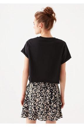 Mavi Siyah Crop Tişört 3
