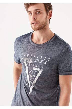 Mavi Limitless  İstanbul Baskılı Lacivert Tişört 0