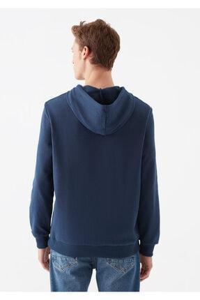 Mavi Mühür Logo Baskılı Lacivert Sweatshirt 3
