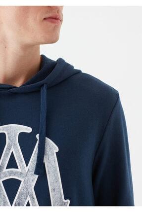 Mavi Mühür Logo Baskılı Lacivert Sweatshirt 4