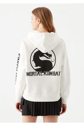 Mavi Mortal Kombat Baskılı Sweatshirt 4