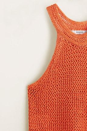 Mango Kadın Parlak Turuncu Bluz 43047802 4