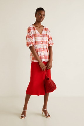 Mango Kadın Kırmızı  Bluz 43057739 0