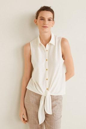 Mango Kadın Kırık Beyaz Bluz 43057773 1