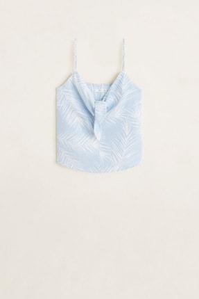 Mango Kadın Açık/Pastel Mavi Bluz 43039077 2