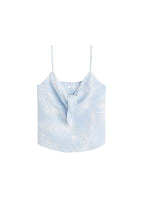 Mango Kadın Açık/Pastel Mavi Bluz 43039077 3