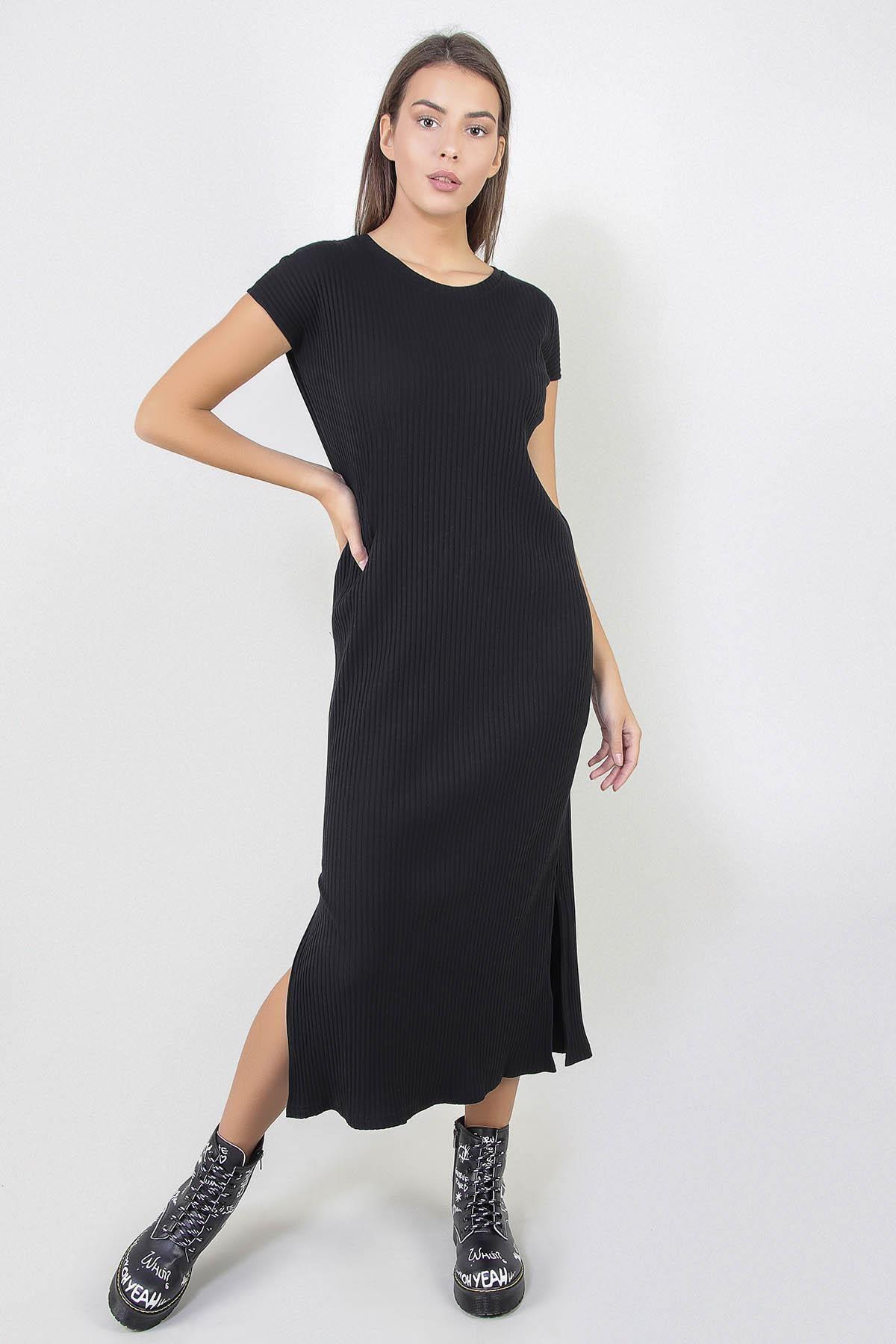 Kadın Yırtmaçlı Uzun Elbise (b20-1647)
