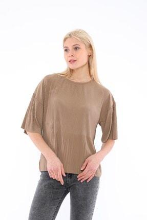 Tiefti Kadın Kahverengi Fitilli Bluz 2