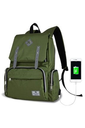 My Valice Smart Bag Mother Star Usb'li Anne Bebek Bakım ve Sırt Çantası Yeşil 0
