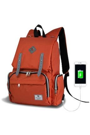 My Valice Smart Bag Mother Star Usb'li Anne Bebek Bakım ve Sırt Çantası Turuncu 0