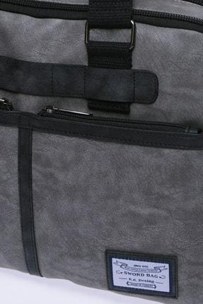 Sword Bag Gri Unisex Laptop & Evrak Çantası 3