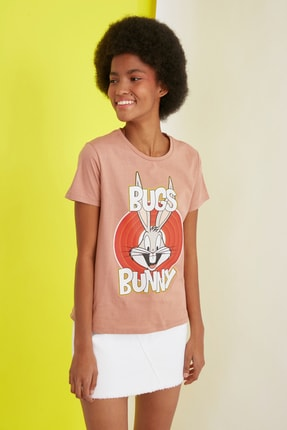 TRENDYOLMİLLA Turuncu Örme T-Shirt TWOSS21TS0565 1