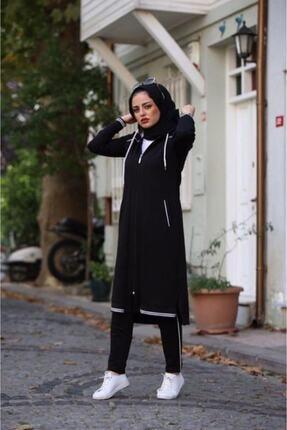 Camelya Fashion Kadın Siyah Eşofman Takımı 2'li 2