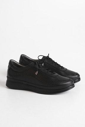 Marjin Kadın Siyah Hakiki Deri Comfort Ayakkabı Amaso 0