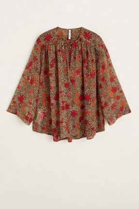 Mango Kadın Kahverengi Bluz 41095032 2