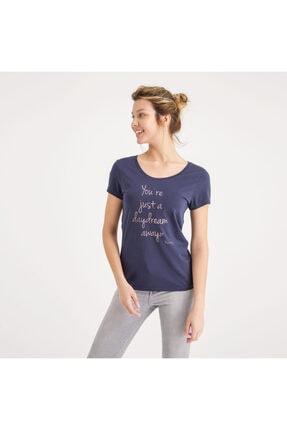 Mustang Kadın Baskılı T-shirt Lacivert 2