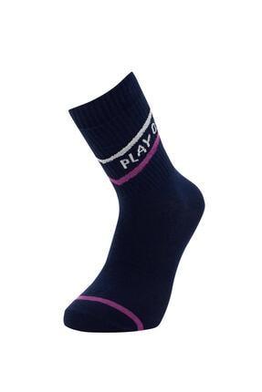Defacto Desenli Kutulu 5'li Soket Çorap 3