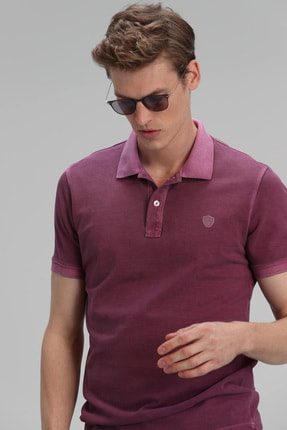 Lufian Vernon Spor Polo T- Shirt Mürdüm 3