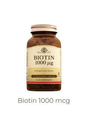 Solgar Biotin 1000 Mcg 50 Kapsül 0