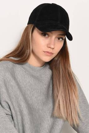 Addax Kadın Siyah Süet Şapka Şpk1037 - E3 ADX-0000022993 0