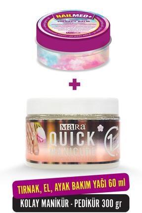Mara Quick Manikür 300gr + Nailmed+ Biotin 60ml Tırnak El Ayak Bakım Seti 0