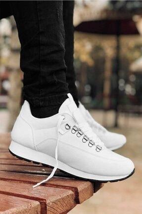 Carrano Tam Ortopedik Beyaz Trend Erkek Spor Ayakkabı 1