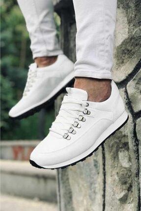 Carrano Tam Ortopedik Beyaz Trend Erkek Spor Ayakkabı 3
