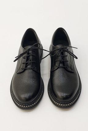 Marjin Kadın Siyah Oxford Ayakkabı Adef 3