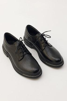 Marjin Kadın Siyah Oxford Ayakkabı Adef 4