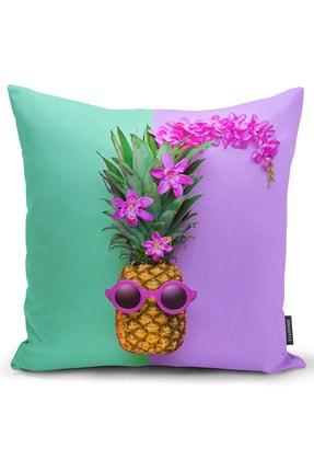 Ysahome Tek Tarafı Dijital Baskı Tropikal Meyve Desenli Dekoratif Modern Kırlent Yastık Kılıfı 0