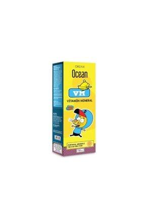 Orzax Ocean Vm Vitamin Mineral Şurup Portakal Aromalı 150 ml 0