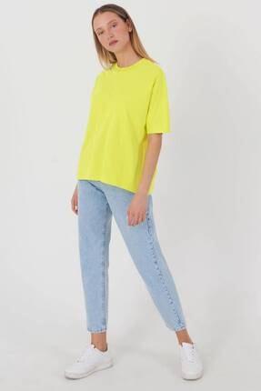 Addax Kadın Fıstık Yeşil Oversize Basic T-Shirt P0730 - J6J7 Adx-0000020569 2