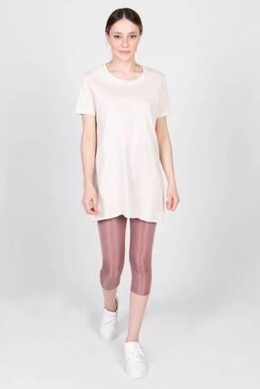 Addax Kadın Taş Bisiklet Yaka T-Shirt P0101 - U4Y1 Adx-00007204 1