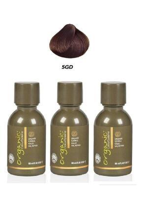 Organic Colour Systems Açık Altın Kahve Saç Boyası 60 ml - 3 Adet 5gd 0