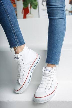 Muggo Unisex Beyaz Keten Ayakkabı Mgcrs37 2