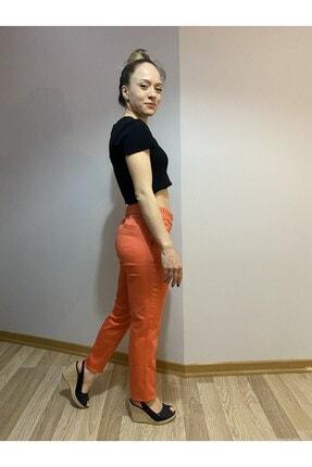 MAGA STORE Turuncu Kadın Kumaş Pantolon 2