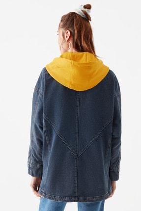 Mavi Kadın Kapüşonlu İndigo Ceket 110815-10241 4