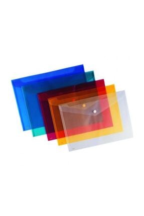 Abka Çıtçıtlı Dosya Şeffaf A4 1 Adet 0