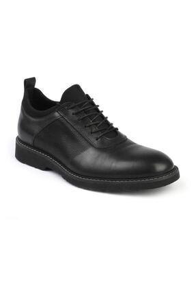Erkek Siyah Koyu Gri Günlük Deri Ayakkabı 2999 resmi