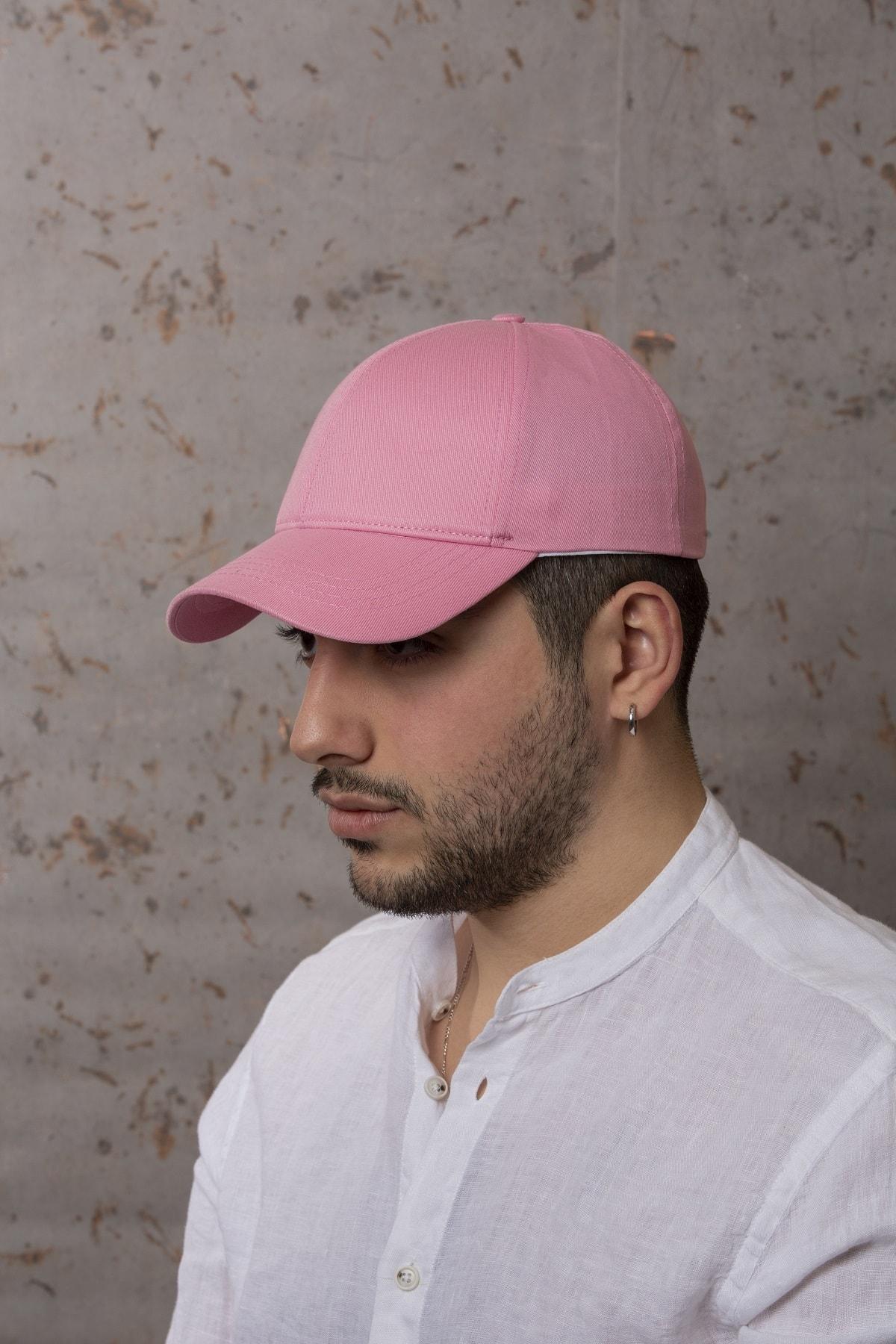 Açık Pembe Şapka - Arkası Ayarlanabilir Şapka