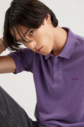 Levi's New Authentic Polo Loganberry Garment Dye Erkek Mavi Polo Tişört 0