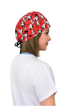 Nur Ortopedi Snoopy Desenli Hastane Doktor Hemşire Bonesi 1