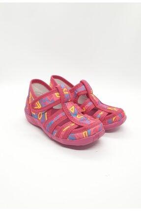 PaPuş Kız Bebek Fuşya Ortopedik Ev Ayakkabısı 1