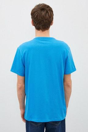 Koton Erkek Mavi T-Shirt 1Yam12317Lk 3