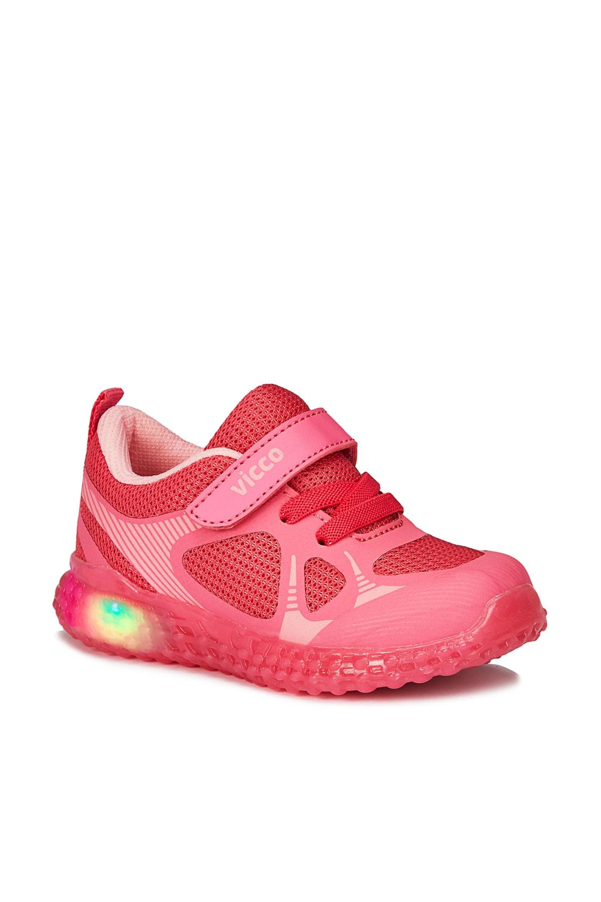 Figo Işıklı Kız Çocuk Fuşya Spor Ayakkabı