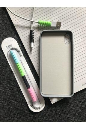 SUPPO Iphone Xs Max Logolu Lansman Kılıf+kablo Koruyucu 1